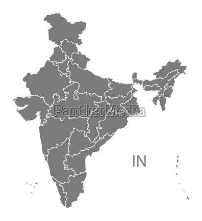 india ilustracion icono en casa plano