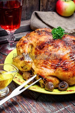 aves de corral comida pollo a