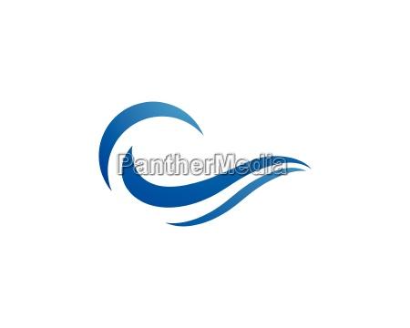 plantilla de logotipo de onda de