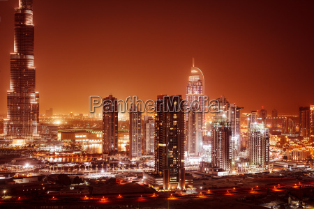 dubai city at night