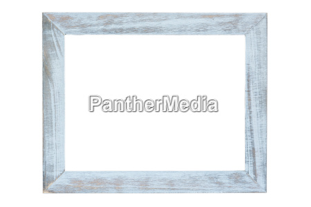 wooden photo frame on white background