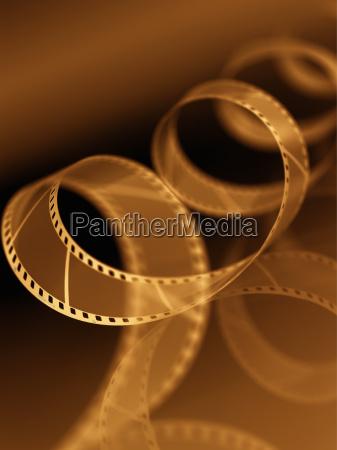 film unspooling