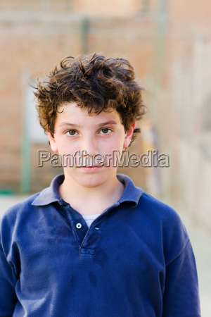 boy looking to camera on a