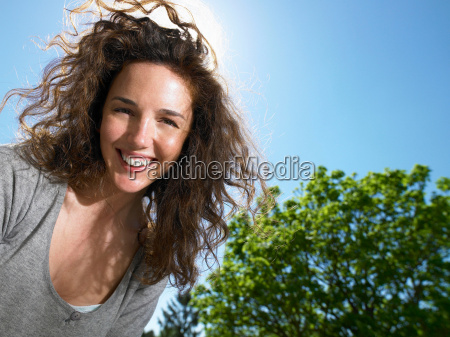 woman enjoying the sun