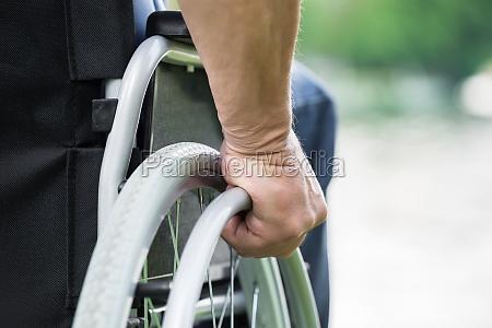 silla de ruedas rueda etiquetas durante