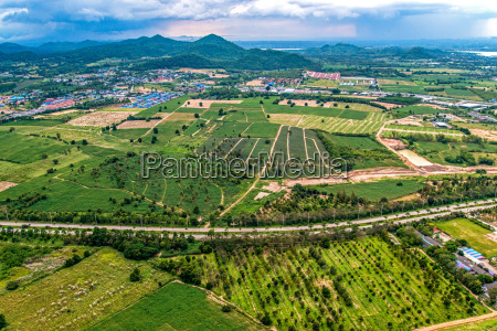 aerial photo farming agriculture and land