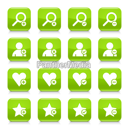 green additional sign square icon web
