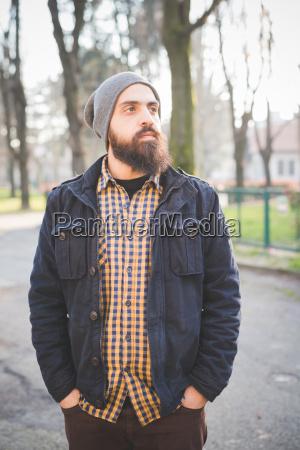 portrait of mid adult man standing