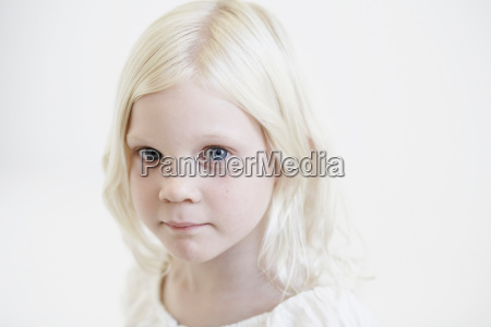 portrait of young girl looking to
