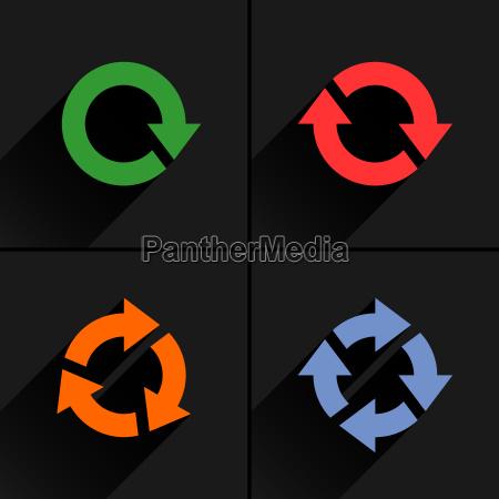 bucle de flecha de color actualizar