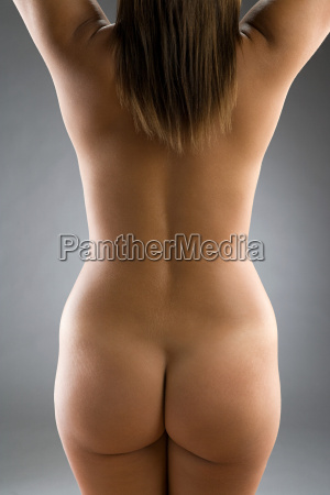 rear view of nude woman