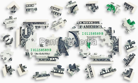 rompecabezas de billetes