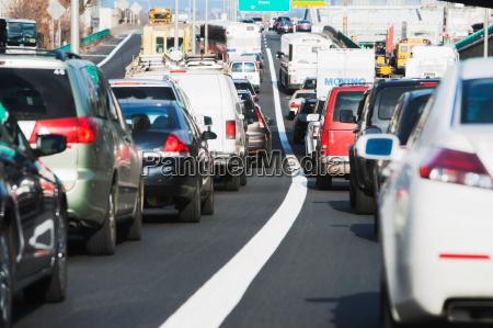 commuter traffic nueva york estados unidos