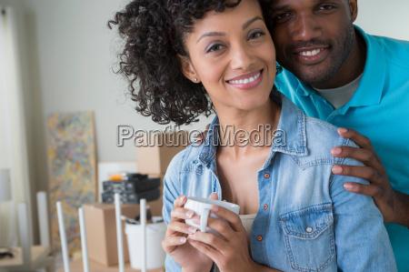 portrait of mid adult couple woman