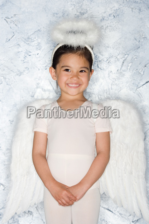 girl in an angel costume