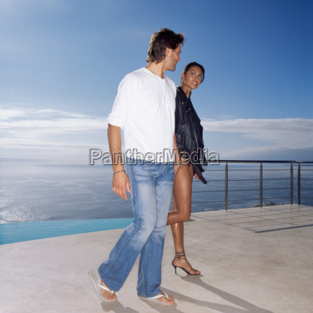 sexy couple holding hands
