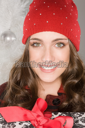 mujer risilla sonrisas femenino regalo festivo