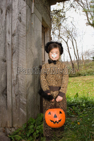 girl in a cat costume