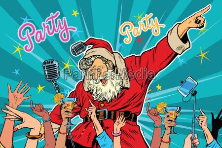 fiesta de navidad papa noel cantante
