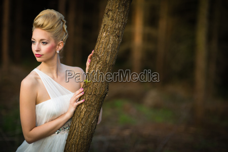 lovely bride on her wedding day