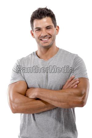 hombre guapo sonriendo