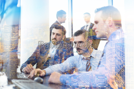business team working in conteporary corporate