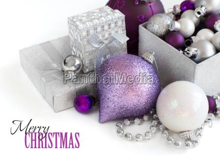 borde de adornos de navidad de