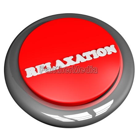 relaxation button isolated over white