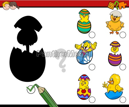 easter shadows activity game