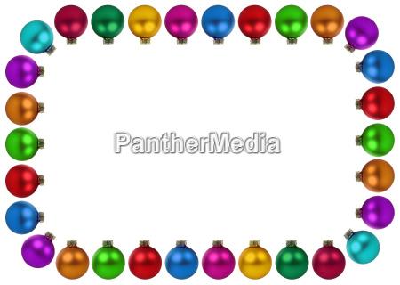 christmas balls christmas colorful decoration frame