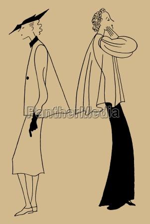mujer mujeres moda cosecha ilustracion vendimia