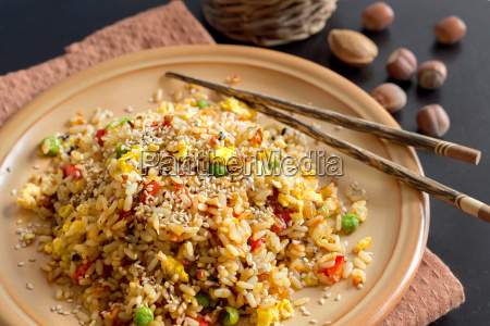 fried rice with vegetables and fried
