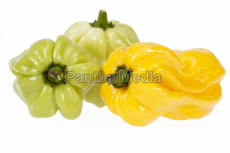 vegetables of small yellow and green