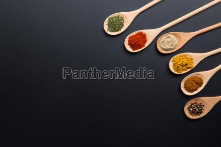 comida pimienta especia polvo col hierba