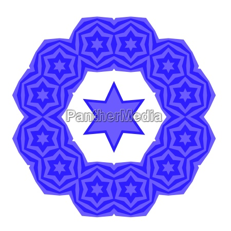 azul religion grafico ornamento ilustracion judaismo