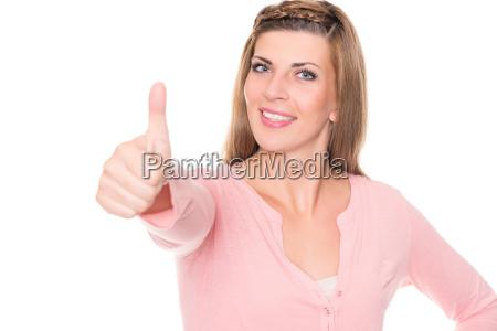 mujer el estudio de grabacion persona