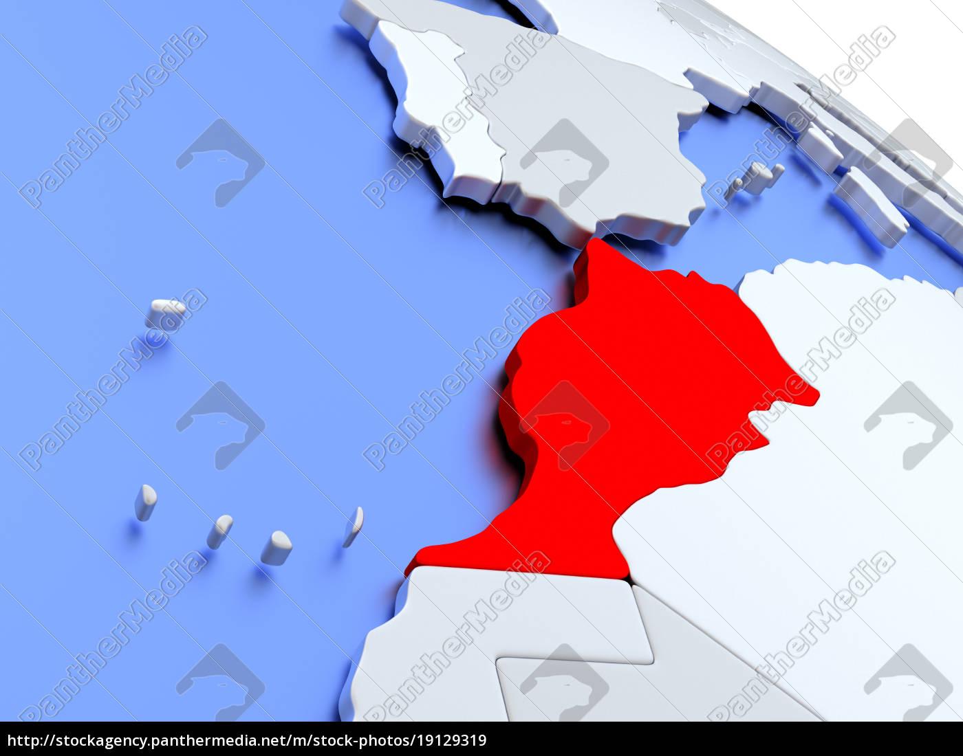 marruecos, en, el, mapa, del, mundo - 19129319
