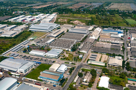 industrial estate factories manufactures and housing
