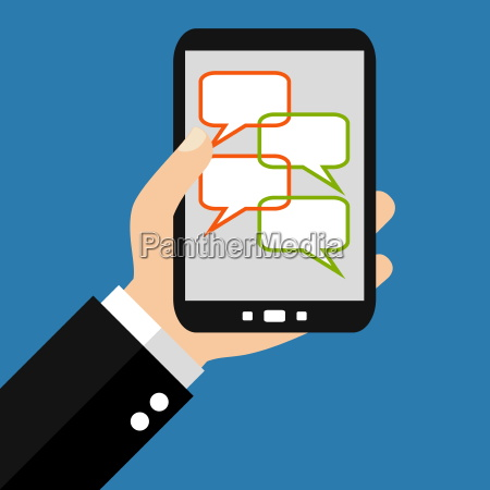 chat communication with the smartphone