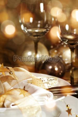 christmas decoration for a festive dinner