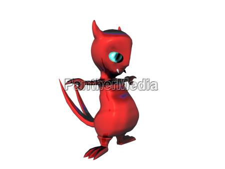 comic juguete satanas dibujos animados diablo
