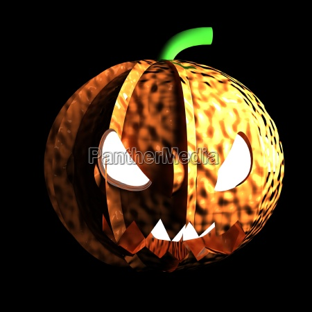 jack o lantern in darkness with