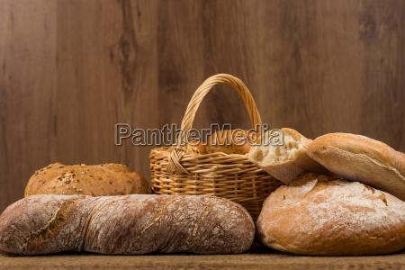 comida pan composicion madera marron agricultura