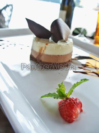 dessert over white plate
