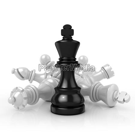 rey negro de pie sobre las