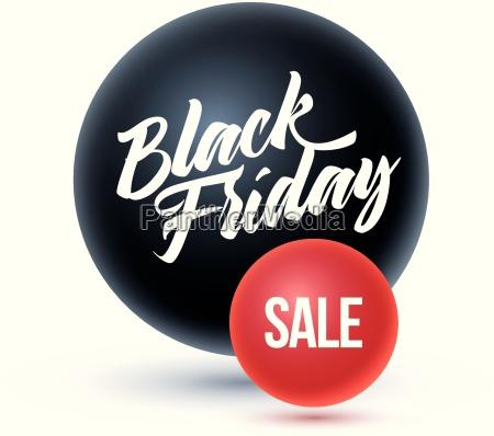 viernes negro sobre esfera negra y