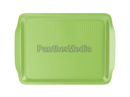 placa de plastico contenedor vacio bandeja