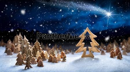 paisaje de decoracion de madera en