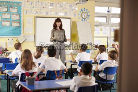 view from doorway of teacher taking