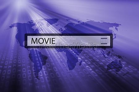 movie written in search bar